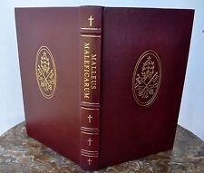 Malleus Maleficarum Special Deluxe Leather Ltd Ed Witchcraft Inquisition RARE!