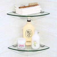 Bathroom Glass Shower Triangular shelving Storage Racks Soap Dish Wall mount New