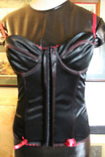 287cd3360821 Hot Topic goth rave punk black w red top corset bustier 34B