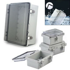 IP67 Waterproof Enclosure Electronic Case Clear Cover Hinged Lid Junction Box