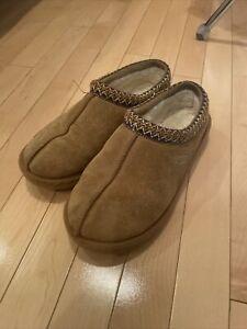 Authentic Women's Shoes 100% UGG 5955 Tasman Braid Winter Slippers Chestnut  W9