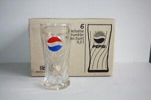6 Pepsi-Cola Swirl-Gläser 0,2 Liter