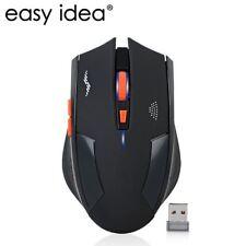 Mouse WIRELESS RICARICABILE 2400DPI Gaming Mouse 2.4 G silenzio al litio integrata B