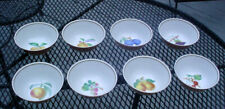 "8)  MOTTAHEDEH VISTA ALEGRE PORTUGAL SUMMER FRUIT 5 1/2"" CEREAL BOWLS SET N/R"