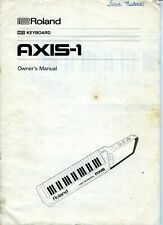 Roland AXIS-1 MIDI Keyboard Owner's Manual. Used.