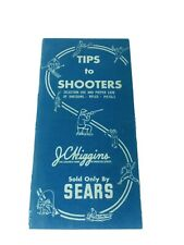 Vintage 1950's Jc Higgins Sold Only At Sears Tips To Shooters Booklet Nice Look