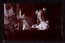 Albumen Photograph ~ VICTORIAN Edwardian Girl PAINTING DRAWING ~ c1900