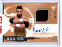 WWE Darren Young 2017 Topps Undisputed Bronze Autograph Relic Card SN 81 of 99