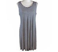 Cute Striped Swing Dress Women's Size XL  Blue/White Cute summer dress