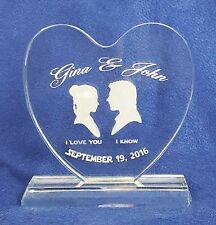 Crystal Starwars Wedding Cake Topper Engraved Personalized FREE