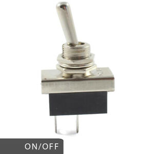 Heavy Duty On / Off Metal Toggle Lever Switch 25 AMP Rated 12v 24v
