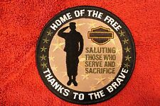 "HARLEY ""SALUTE THOSE WHO SERVE & SACRIFICE "" PATCH - MILITARY FIRST RESPONDERS"