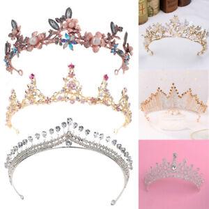 Queen Crown - Rhinestone Crystal Wedding Crowns and Tiaras Women Hair Jewelry