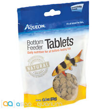 Aqueon Bottom Feeder Tablets Fish Food 3oz Pouch FAST FREE USA SHIPPING