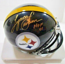 LYNN SWANN - NFL HALL OF FAME - HAND SIGNED STEELERS LOGO MINI HELMET - W/ COA