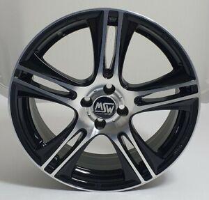 MSW MINI Wheel - Single - 18x7J - 5 Double Spoke - Black and Silver