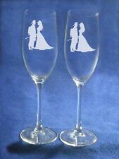 Fireman Wedding Glasses Flute Seal Firefighter Engraved Personalized FREE