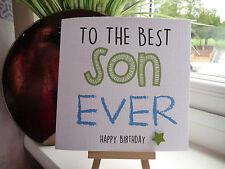 Modern Handmade Personalised 'Best Ever' Birthday Card Son Brother Dad Grandson