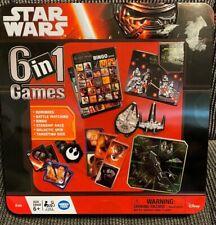 Disney Star Wars Force Awakens 6 in 1  Games  Collector Tin Bingo Dominoes Etc