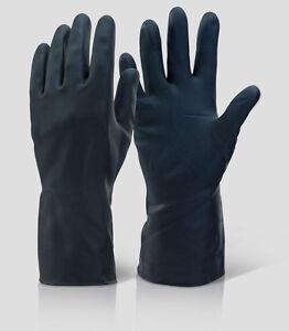 6 Paar dicke Werkstatt Gummihandschuhe Latex Öl Säurefest Lackier-Handschuhe