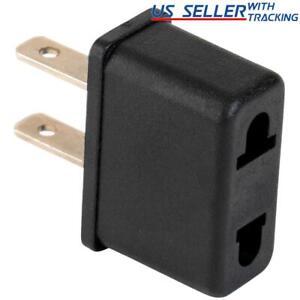 EU Euro Europe to US USA Power Jack Wall Plug Converter Travel Adapter Adaptor