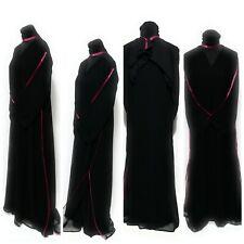 Damen Geschlossene Vorderseite Kleid Saudiarabisch Lange Abaya Farasha Jilbab