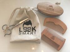 Look Smart Mens Beard Scissors, Brush, 2x Combs, Bag, New