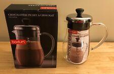 New, Open: BODUM Chocolatiere Hot Chocolate JUG Mixer Glass Pitcher Pot 10676