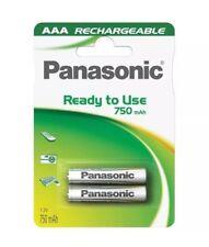 AAA Panasonic 750 mAh paquete de 2 Baterías Recargables De Teléfono Inalámbrico DECT Hogar