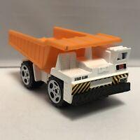 Matchbox White Orange MC Dump Truck 1:64 Scale Diecast Toy Model Mattel