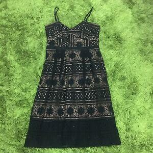 Tokito Strappy Lace Dress Black Size 14