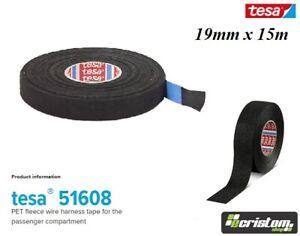 Tesa Tape Rolls Adhesive Cloth Fabric Wiring Harness 19mm15m LOOM HARNESS 51608