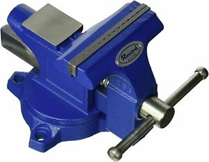 "Irwin Record 4-1/2"" Workshop Blue Vise With Swivel Base 4935507"