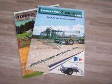 Lot de 2 Prospectus/Brochure/Prospekt agricoles/tracteurs TONALIS (472)