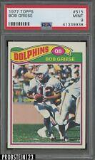 1977 Topps #515 Bob Griese HOF Dolphins PSA 9 MINT