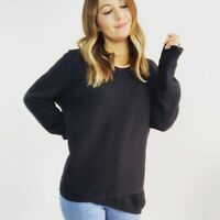 Madewell Feature Pullover Sweater in Black Women's Size XL