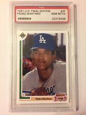 PSA 10 PEDRO MARTINEZ 1991 UD UPPER DECK FINAL EDITION # 2F ROOKIE RC HOF