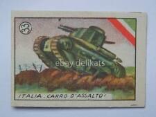 Vecchia figurina 1940 eserciti militare 33 Italia carro d'assalto