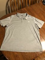 NEW ADIDAS MEN'S 2XL XXL CLIMACOOL POLO SHIRT SOLID GREY GRAY MINT