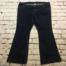 Liz Lange Maternity Sz 18 Jeans Dark Blue Denim Bootcut Stretch Waist