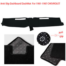 Truck Dashboard Sun Cover Dash Mat Fits For 1981-1987CHEVROLET Full  Size Black