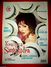 LA REINA DE CHANTECLER 1962 SARA MONTIEL RAFAEL GIL VERY RARE EXYU MOVIE POSTER
