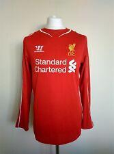 LIVERPOOL FC Home Football Shirt 2014/15 warrior Long sleeve L/S Size Medium M
