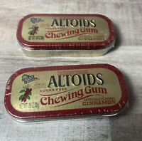 ALTOIDS Cinnamon Chewing Gum sugar-free (2 Sealed Collectors Tin)