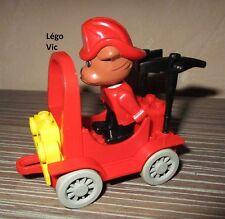 Lego 3797 Fire Chief Véhicule Pompier complet rare de 1987