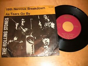 235 / The Rolling Stones - 19th Nervous Breakdown - As Tears Go By / vg++