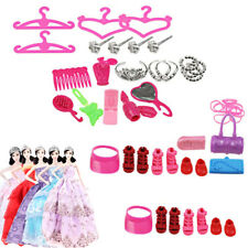 42pcs Doll Accessories For Barbie Dolls Cute Clothing Dresses Shoes Hangers Toys