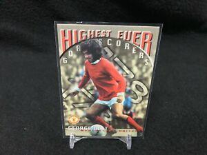 GEORGE BEST #86 MANCHESTER UNITED 1997 INSERT FUTERA SOCCER TRADING CARD