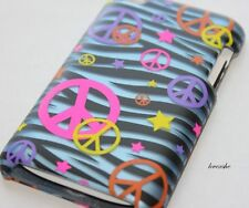 iPod Touch 4th Gen 4g - HARD PROTECTOR CASE COVER BLUE BLACK ZEBRA PEACE STAR