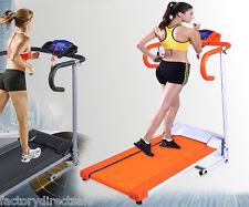 New 1100W Folding Electric Treadmill Portable Motorized Running Machine Orange